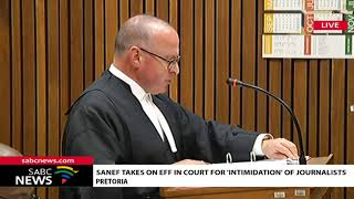 Sanef and EFF face off at Equality Court