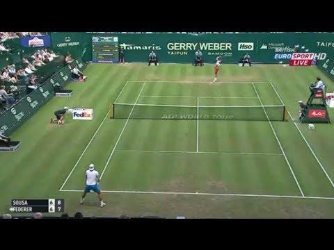 Halle 2014 Roger Federer vs. Joao Sousa 1st Set Tiebreak