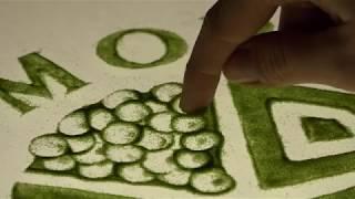 DISEGNI CON LA SABBIA | Terra Moretti Vino | SAND ART