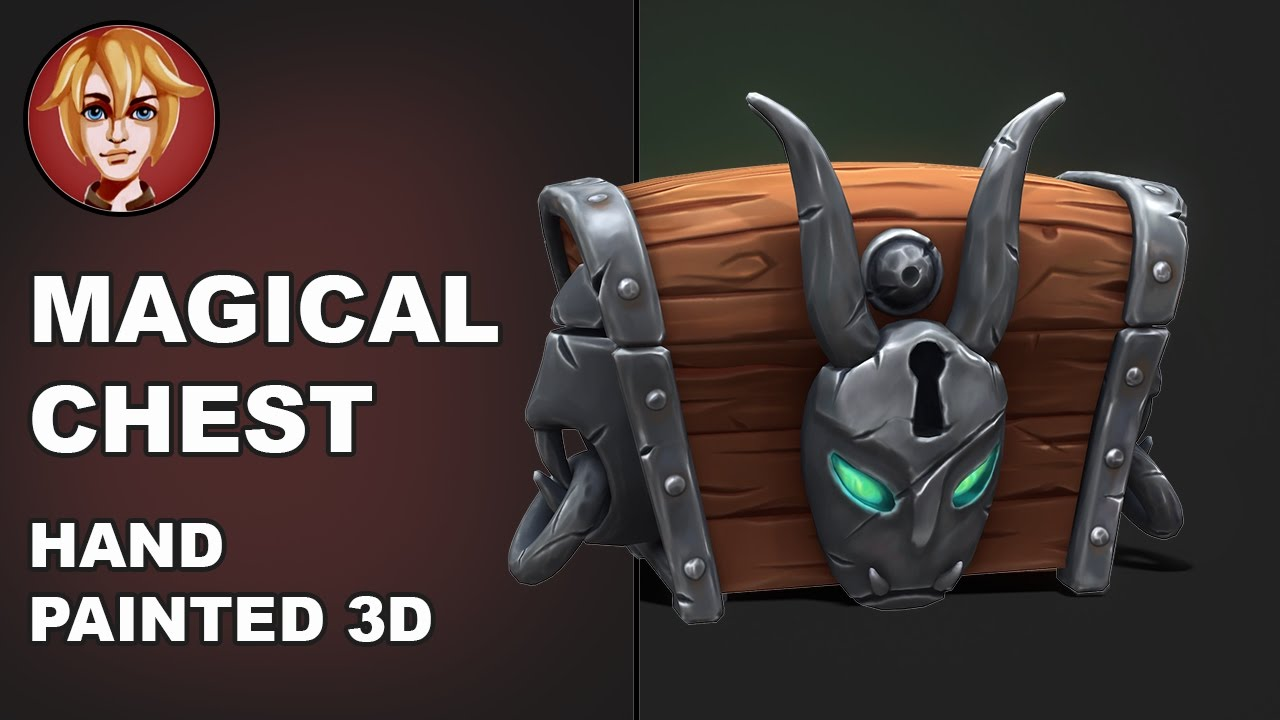 Magical Сhest - hand painted 3D