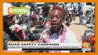 Bodaboda riders trained on road safety ahead of festive season