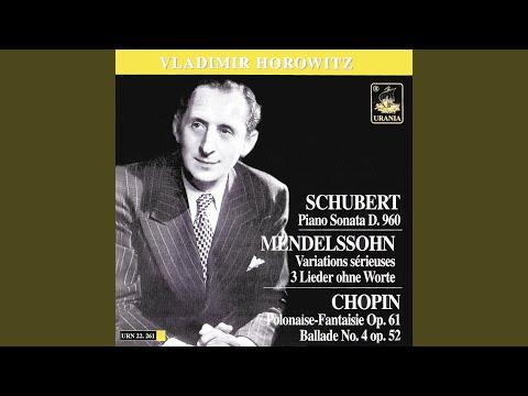 Sonata in B-Flat Major, D. 960: I. Molto moderato