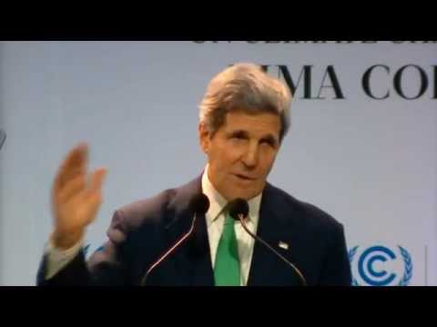 Speaking at the UN climate talks in Lima, Kerry calls on concerned citizens to demand action
