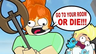 crazy killer babysitter in roblox escape the evil babysitter obby gamer chad plays