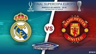РЕАЛ МАДРИД - МЮ Суперкубок УЕФА Криштиано Роналдо-в ЗАПАСЕ!!!!