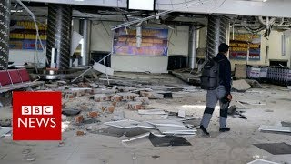 Inside Indonesia's disaster-hit airport - BBC News