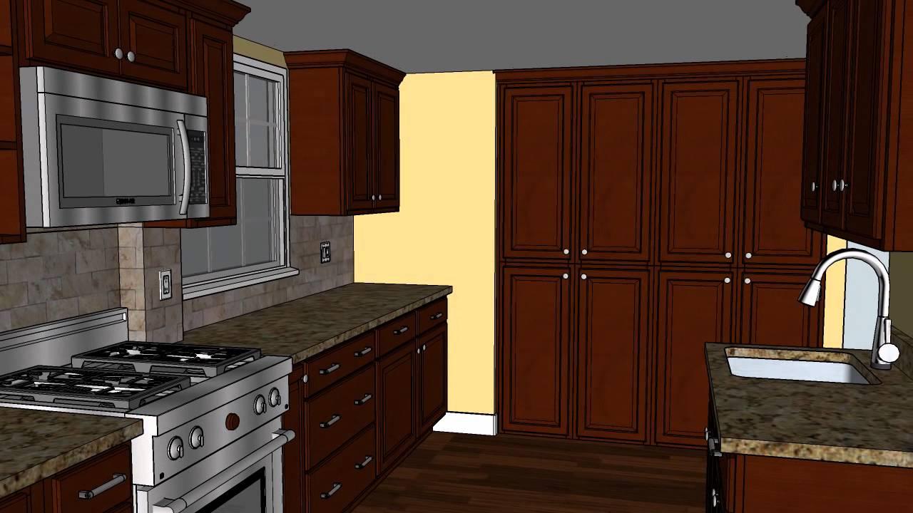 Irvin Kitchen Renovation CAD Design Option #2   MasterCraft Kitchen _ Bath