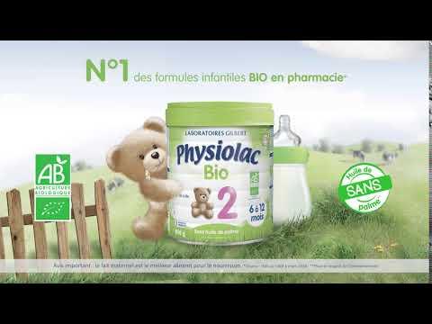 Physiolac, une gamme de laits infantiles BIO disponible en pharmacie et parapharmacie