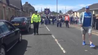 Saltcoats Protestant Boys 10th Anniversary Finishing The Parade