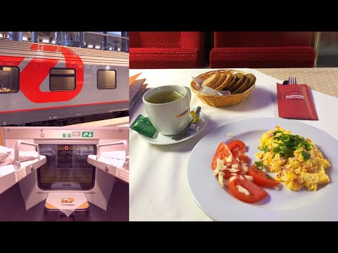 Strasbourg - Berlin with Russian EuroNight Train Paris - Moscow Поезд Париж - Москва