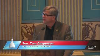 Sen. Casperson delivers floor statement on government operations
