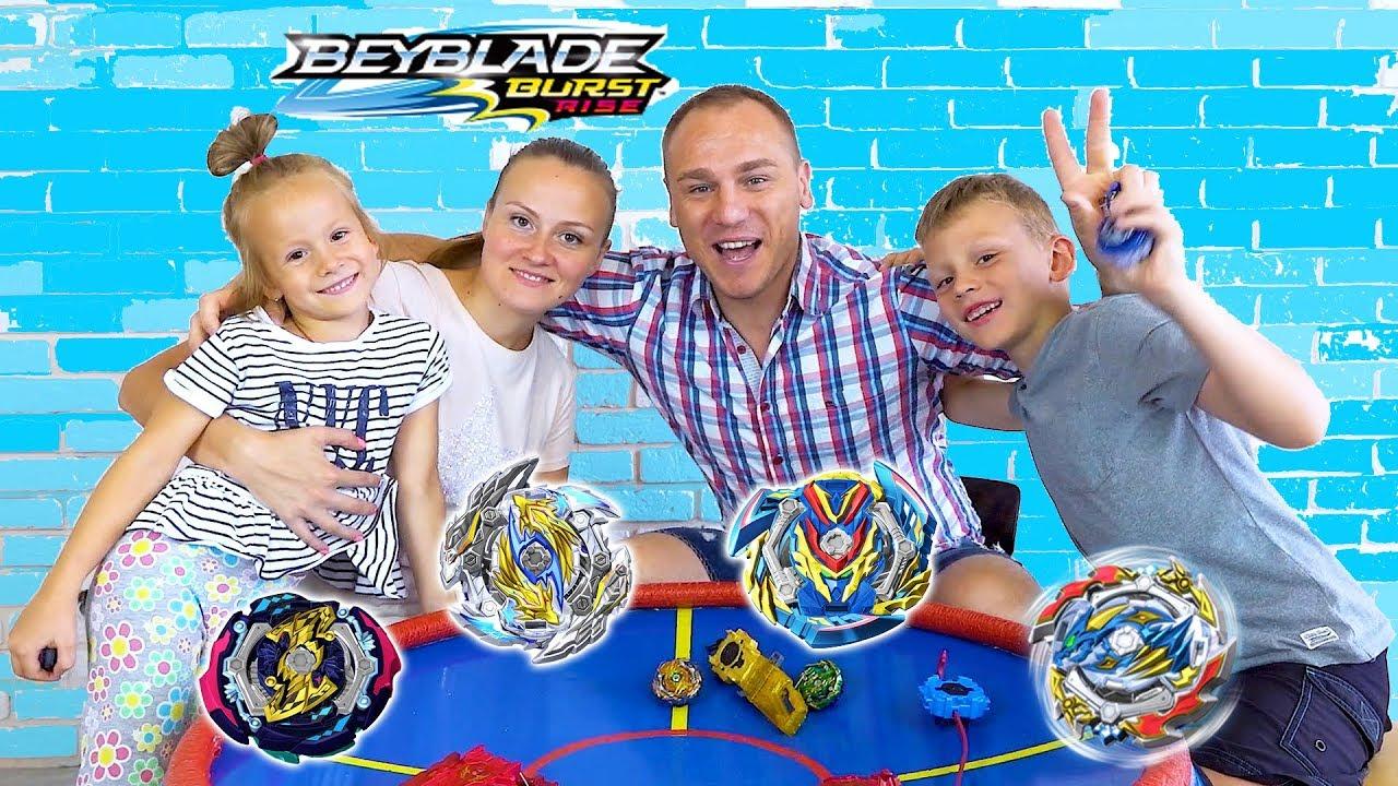 Beyblade Burst Rise на огромной арене Big BeyStadium Beyblade Burs GT