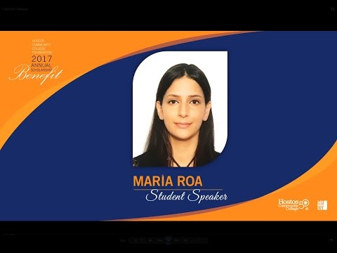 Hostos 2017 Annual Scholarship Benefit Student Speaker Maria Roa
