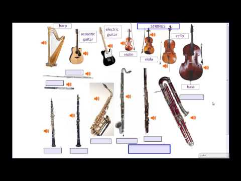 Musical Instruments, Part 1 of 2