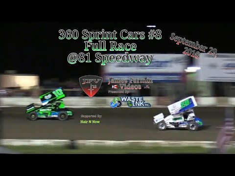 360 Sprint Cars #8, Full Race, 81 Speedway, 09/29/18