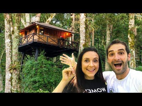 TOUR NA CASA NA ARVORE NO BRASIL | casinha Travel and Share | Romulo e Mirella