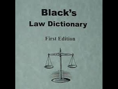 Black's Law Dictionary. It's a TRAP!