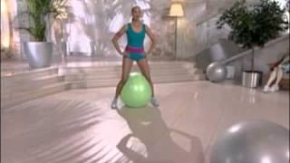 Упражнения с гимнастическим мячом(Больше упражнений на http://ekaterina.ua/, 2010-12-01T17:04:26.000Z)