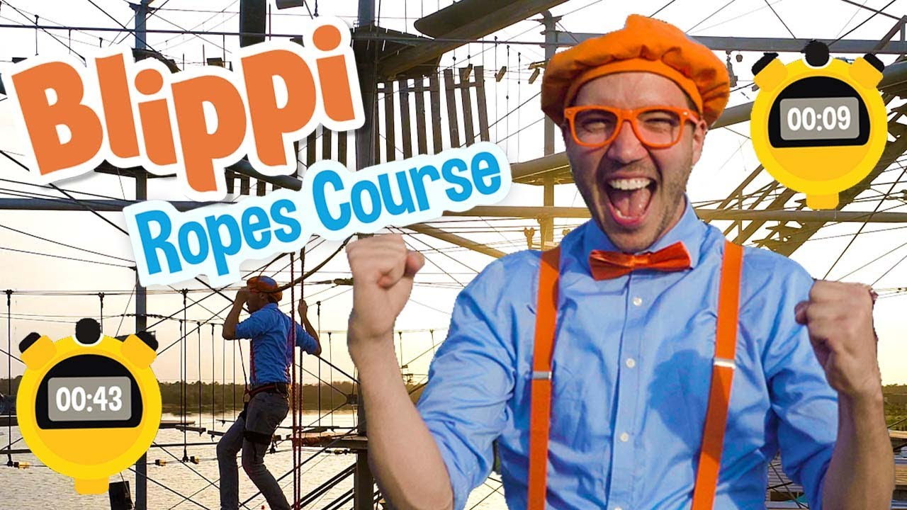 Blippi Visits An Outdoor Adventure Park   Educational Videos For Kids