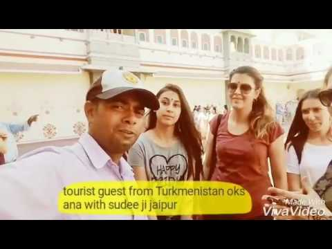 A tourist guest from Turkmenistan with sudee ji jaipur