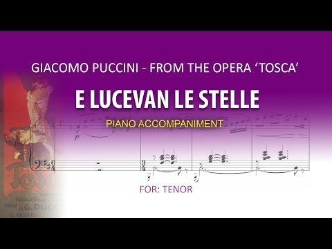 E lucevan le stelle / Karaoke piano / Giacomo Puccini / TENOR