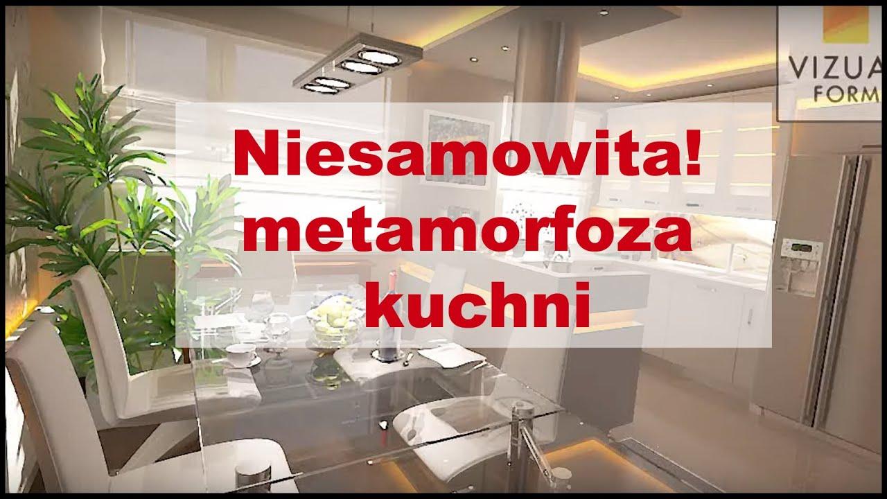 Aranżacja domu, kuchnia z jadalnią Meble kuchenne  Design kitchen  YouTube -> Projekt Domu Kuchnia Z Jadalnia
