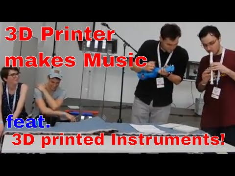 This 3D printer makes music! feat 3d printed Instruments! OEG3D & MAYER MAKES