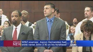WBZ Sources: Aaron Hernandez Had Bible Verse On Forehead, May Have Smoked Marijuana