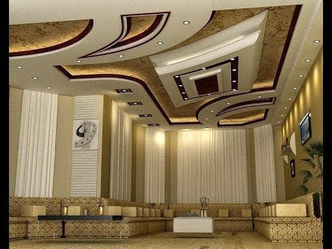 Gypsum False Ceiling With Lights Youtube Latest Pop Design For