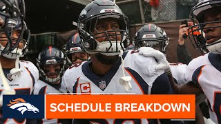 Broncos' 2019 schedule features two critical stretches