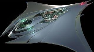 Mantaray Spaceship Concept By. Rene Garcia
