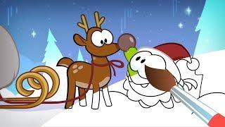 Ам Ням і Різдво - Різдвяний випуск - Мультик Розмальовка з Ам Нямом - Новорічні мультики