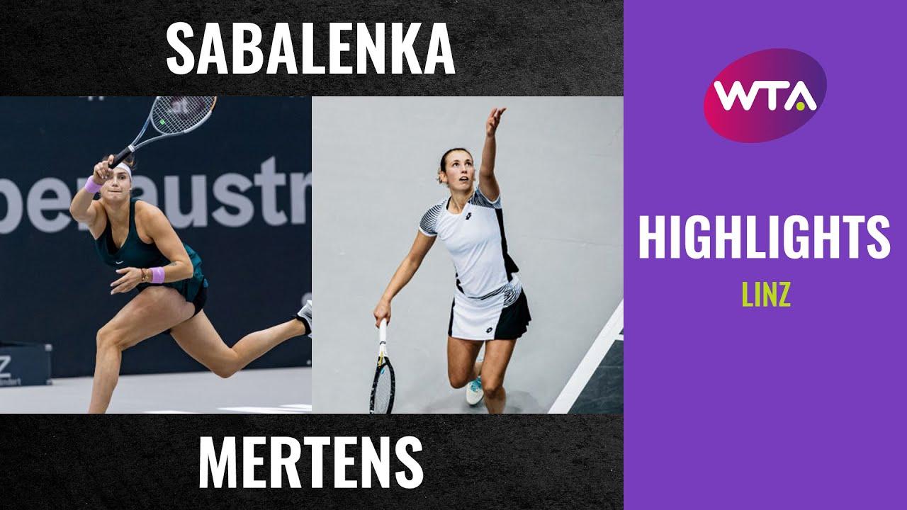 Aryna Sabalenka vs. Elise Mertens   2020 Linz Final   WTA Highlights