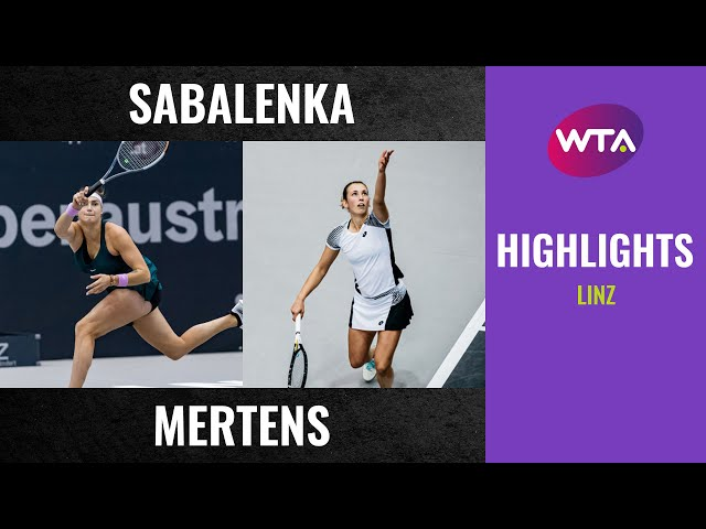 Aryna Sabalenka vs. Elise Mertens | 2020 Linz Final | WTA Highlights