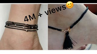 simple and easy silk thread anklets|diy anklets design|college wear