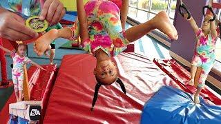 Learn How To Do Gymnastics With Imani! Gymnastics For Kids (Imani Gets A Medal!)