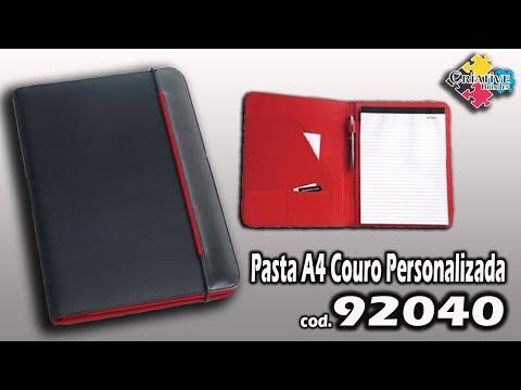 Pasta A4 Couro 92040 Personalizada - Criative Brindes