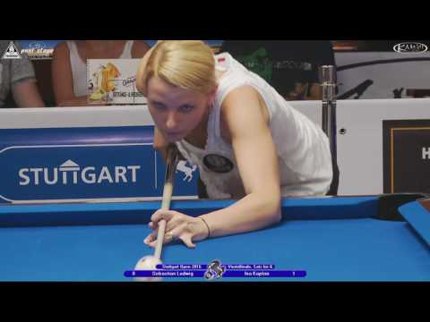 Stuttgart Open 2016, No. 24, 1/4 Final, Sebastian Ludwig vs. Ina Kaplan, 10-Ball, Pool-Billard