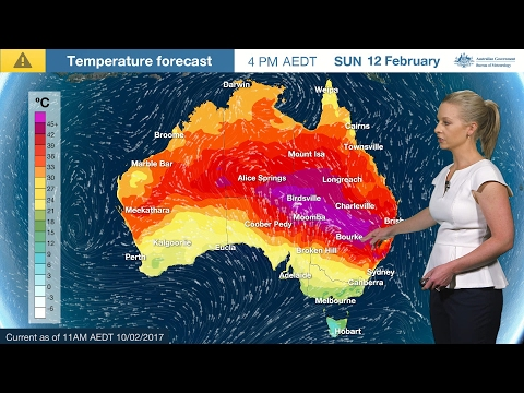 ⚠Weather Update: Extreme Temperatures For NSW And Qld, 10 February 2017