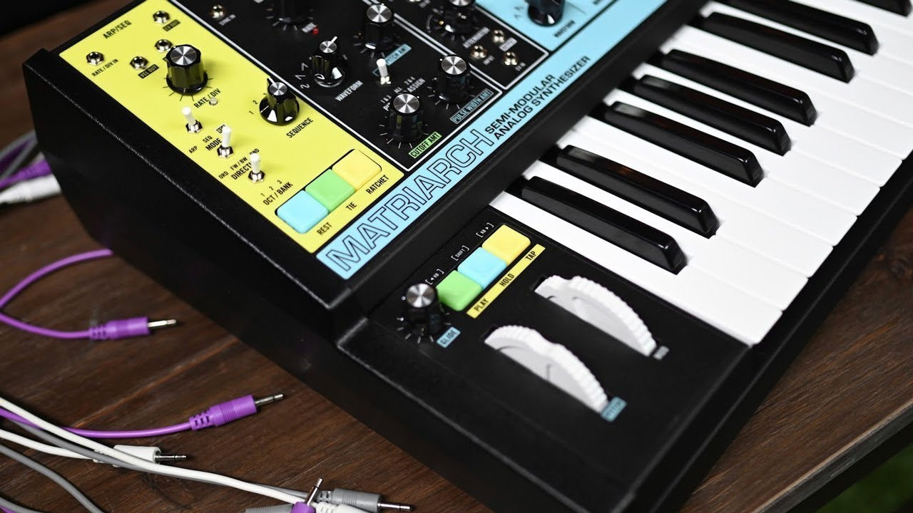 moog matriarch semi modular analog synthesizer overview demo youtube. Black Bedroom Furniture Sets. Home Design Ideas