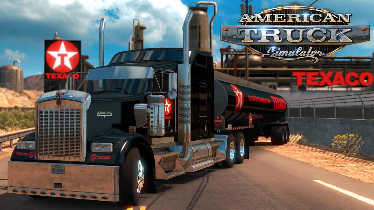 American Truck Simulator: Texaco W900 and Tanker - San Rafael to Stockton - YouTube