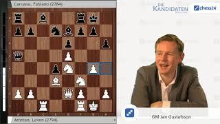Aronian-Caruana,  Kandidatenturnier 2018: Analyse von Jan Gustafsson