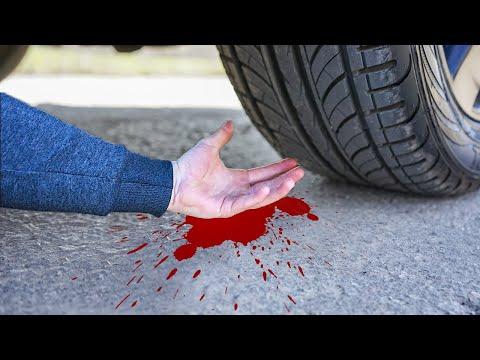 EXPERIMENT: HAND VS CAR - CRUSHING CRUNCHY & SOFT THINGS BY CAR!