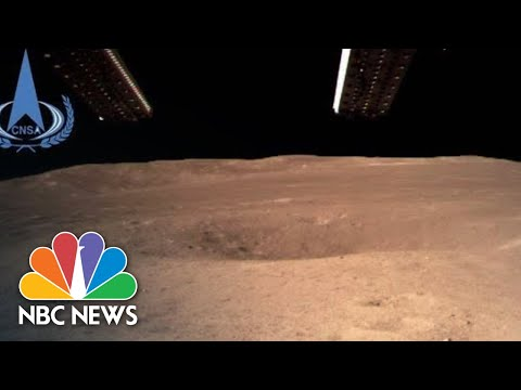 Chinese Probe Lands On The Far Side Of The Moon, Sends Back First Picture | NBC News