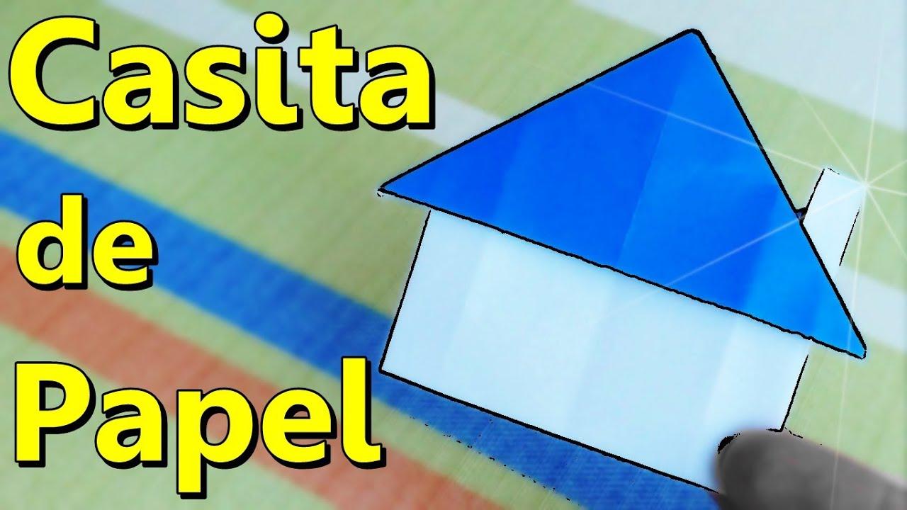 C mo hacer una casita de papel origami youtube - Como hacer una maqueta de una casa ...
