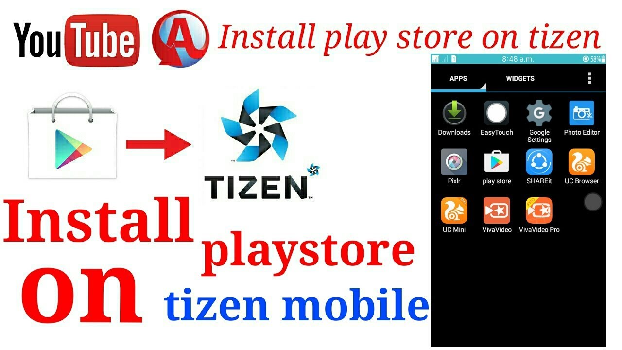 INSTALL PLAYSTORE ON TIZEN MOBILE (Z1,Z2,Z3,Z4) : LightTube