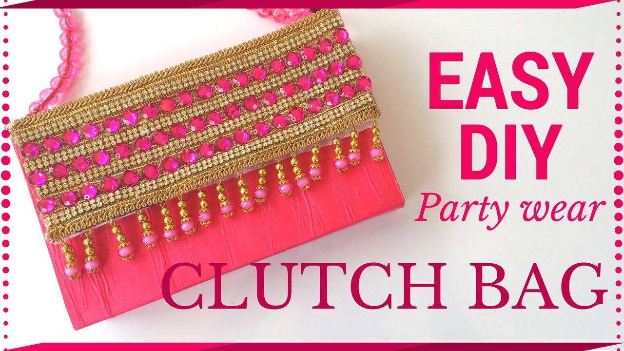 Diy Simple Clutch Bag Tutorial No Sew Handmade Paper By Maya Kalista