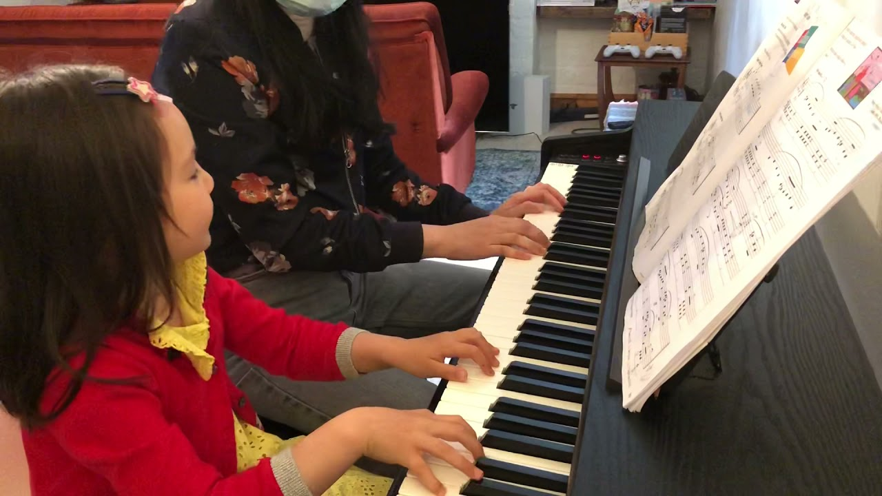 Rui Rui is 5 years old, and she sure can create a spooky film score!