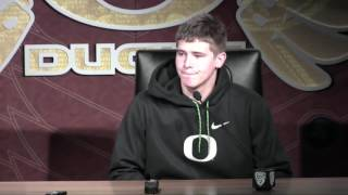 Justin Herbert talks about Oregon's offensive performance against Stanford