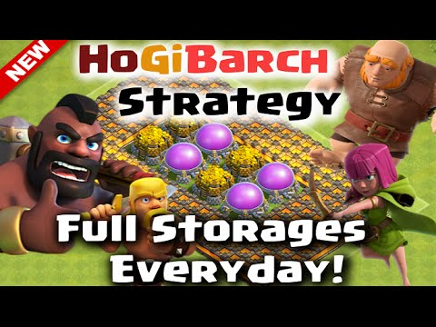 Clash of Clans - HoGiBarch Strategy for Fast and Easy Loot Post Update! (Best Attack Strategy)